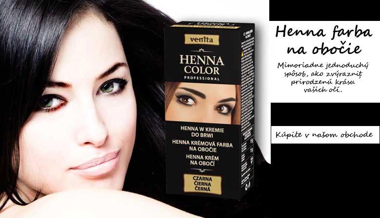 Henna krémová farba na obočie